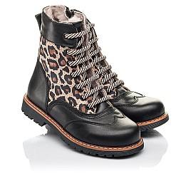 Детские зимние ботинки на меху Woopy Fashion черные для девочек натуральная кожа и нубук размер 29-37 (4490) Фото 1
