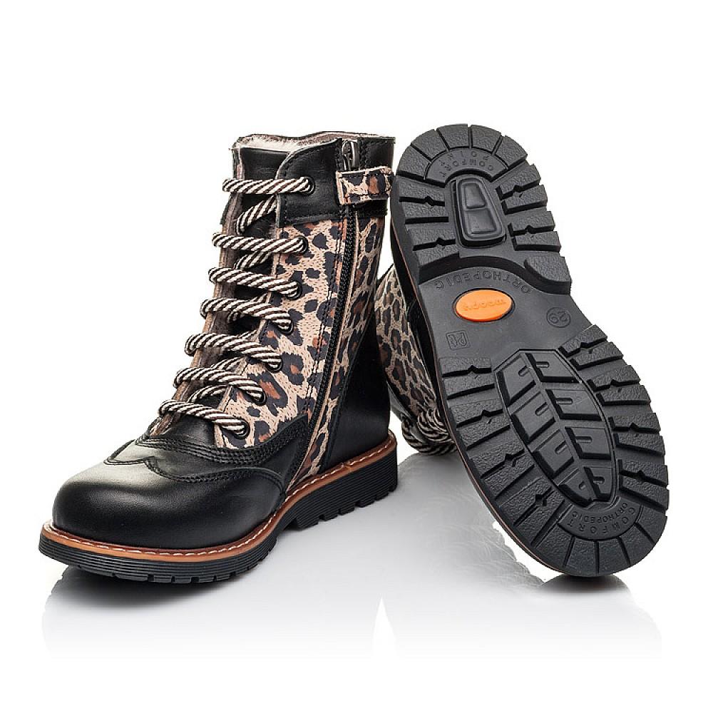 Детские зимние ботинки на меху Woopy Fashion черные для девочек натуральная кожа и нубук размер 29-38 (4490) Фото 2