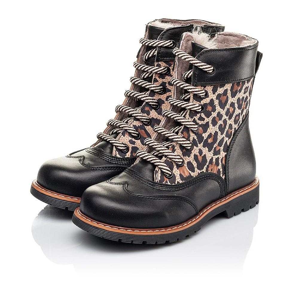 Детские зимние ботинки на меху Woopy Fashion черные для девочек натуральная кожа и нубук размер 29-38 (4490) Фото 3