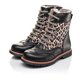 Детские зимние ботинки на меху Woopy Fashion черные для девочек натуральная кожа и нубук размер 29-37 (4490) Фото 3