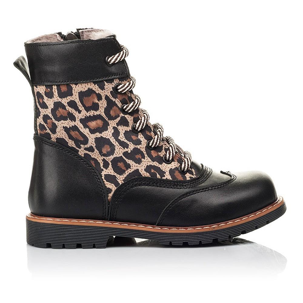 Детские зимние ботинки на меху Woopy Fashion черные для девочек натуральная кожа и нубук размер 29-38 (4490) Фото 4