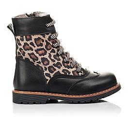 Детские зимние ботинки на меху Woopy Fashion черные для девочек натуральная кожа и нубук размер 29-37 (4490) Фото 4