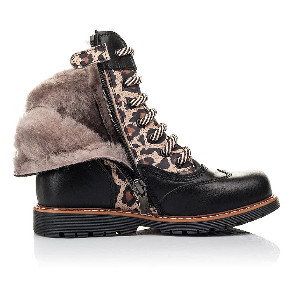 Детские зимние ботинки на меху Woopy Fashion черные для девочек натуральная кожа и нубук размер 29-38 (4490) Фото 5