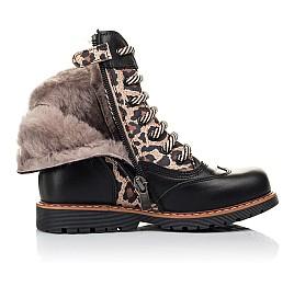 Детские зимние ботинки на меху Woopy Fashion черные для девочек натуральная кожа и нубук размер 29-37 (4490) Фото 5