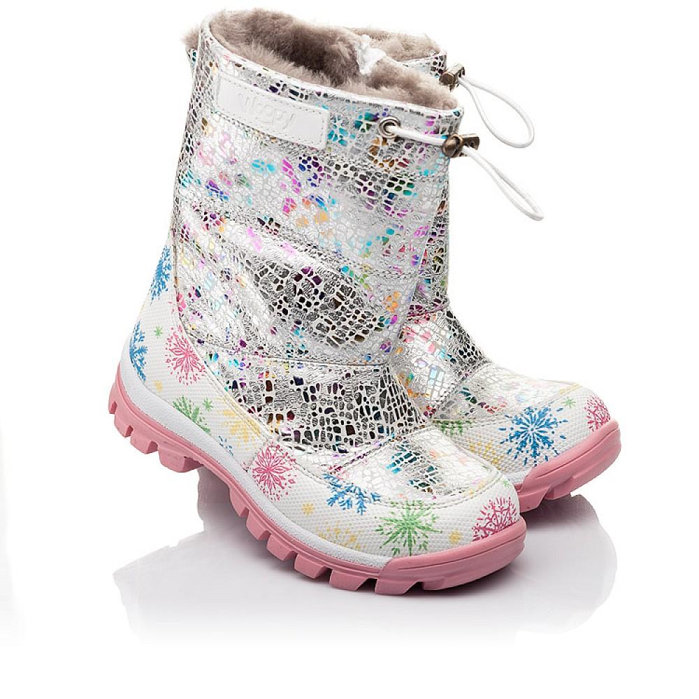 Детские зимние ботинки на меху Woopy Fashion разноцветные для девочек натуральная кожа размер 23-33 (4491) Фото 1