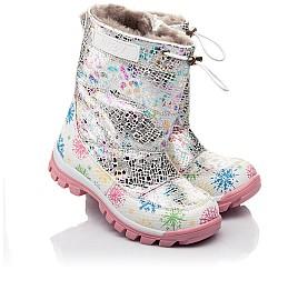 Детские зимние ботинки на меху Woopy Fashion разноцветные для девочек натуральная кожа размер 24-32 (4491) Фото 1