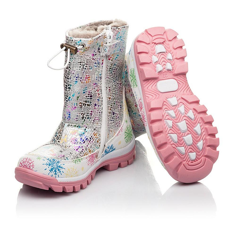 Детские зимние ботинки на меху Woopy Fashion разноцветные для девочек натуральная кожа размер 23-33 (4491) Фото 2