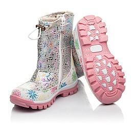 Детские зимние ботинки на меху Woopy Fashion разноцветные для девочек натуральная кожа размер 24-32 (4491) Фото 2