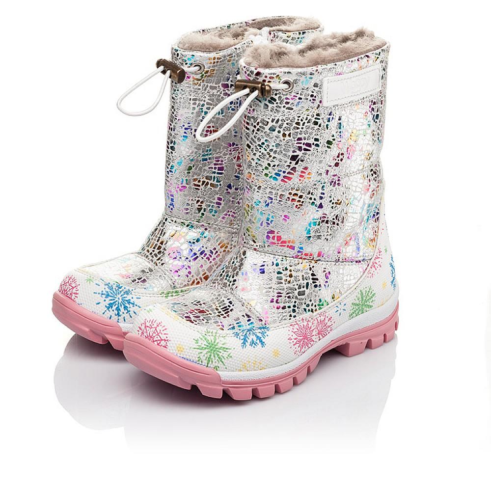 Детские зимние ботинки на меху Woopy Fashion разноцветные для девочек натуральная кожа размер 23-33 (4491) Фото 3