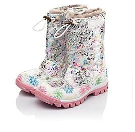 Детские зимние ботинки на меху Woopy Fashion разноцветные для девочек натуральная кожа размер 24-32 (4491) Фото 3