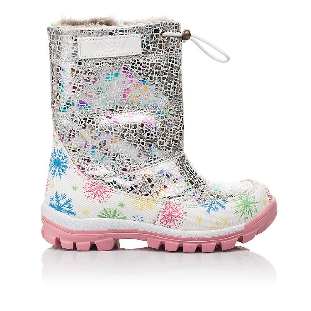 Детские зимние ботинки на меху Woopy Fashion разноцветные для девочек натуральная кожа размер 23-33 (4491) Фото 4