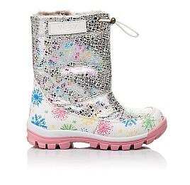 Детские зимние ботинки на меху Woopy Fashion разноцветные для девочек натуральная кожа размер 24-32 (4491) Фото 4