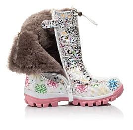 Детские зимние ботинки на меху Woopy Fashion разноцветные для девочек натуральная кожа размер 24-32 (4491) Фото 5