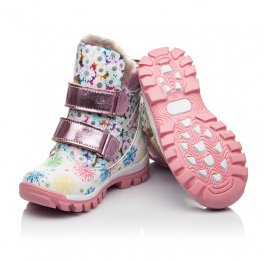 Детские зимние ботинки на меху Woopy Fashion разноцветные для девочек натуральная кожа размер 24-32 (4492) Фото 2