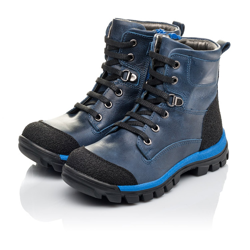 Детские зимние ботинки на меху Woopy Fashion синие для мальчиков натуральная кожа размер 21-33 (4493) Фото 3