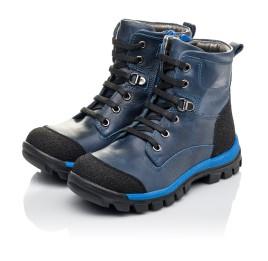Детские зимние ботинки на меху Woopy Fashion синие для мальчиков натуральная кожа размер 21-27 (4493) Фото 3