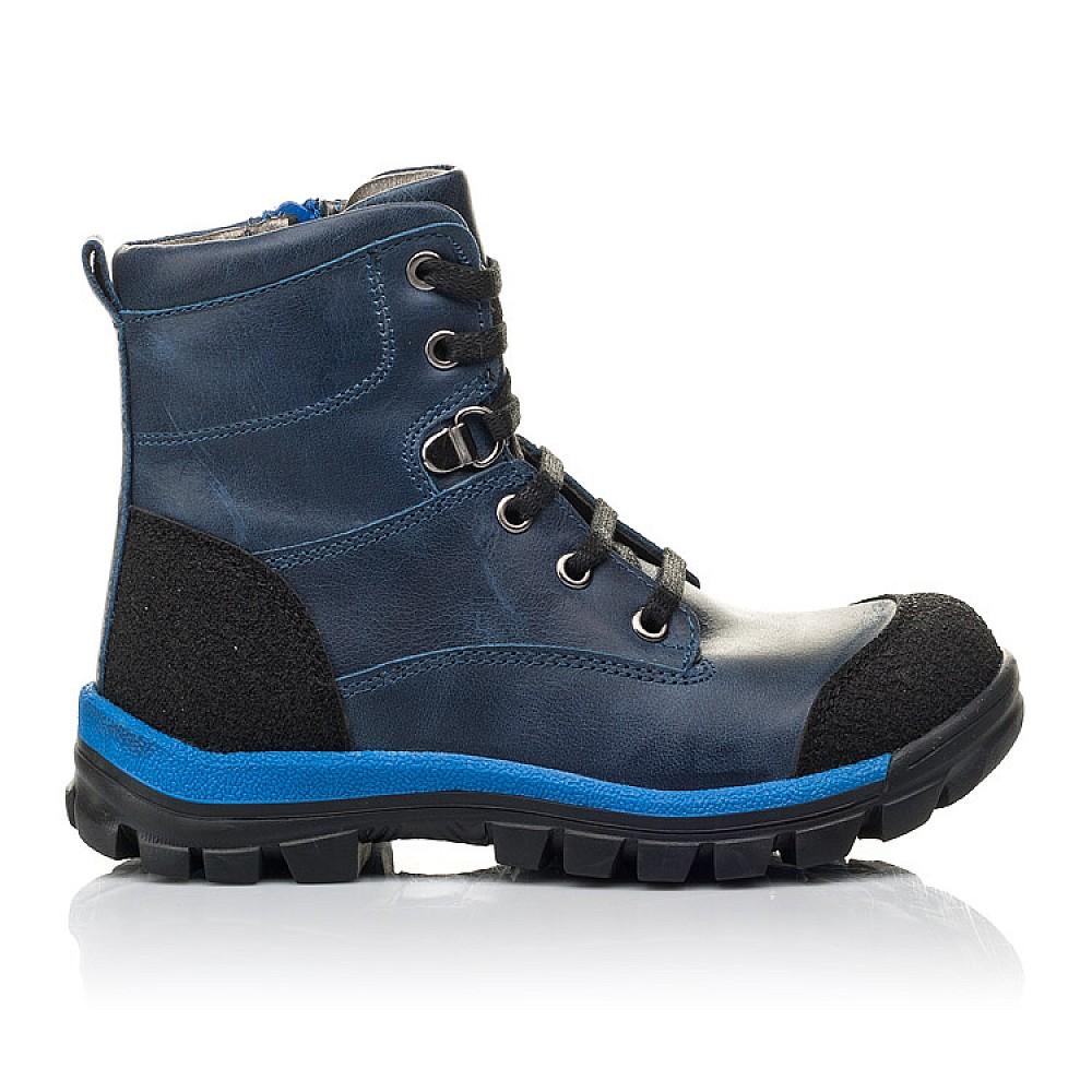 Детские зимние ботинки на меху Woopy Fashion синие для мальчиков натуральная кожа размер 21-33 (4493) Фото 4