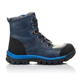 Детские зимние ботинки на меху Woopy Fashion синие для мальчиков натуральная кожа размер 21-32 (4493) Фото 4