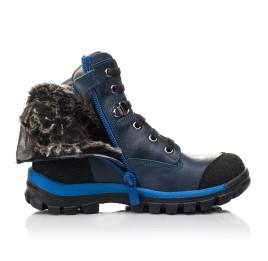Детские зимние ботинки на меху Woopy Fashion синие для мальчиков натуральная кожа размер 21-27 (4493) Фото 5