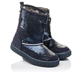 Детские зимние сапоги на меху Woopy Fashion синие для девочек нубук размер 27-37 (4494) Фото 1