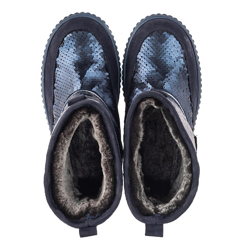 Детские зимние сапоги на меху Woopy Fashion синие для девочек нубук размер 27-37 (4494) Фото 5