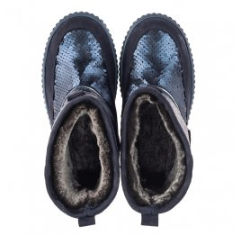 Детские зимние сапоги на меху Woopy Fashion синие для девочек нубук размер 27-35 (4494) Фото 5
