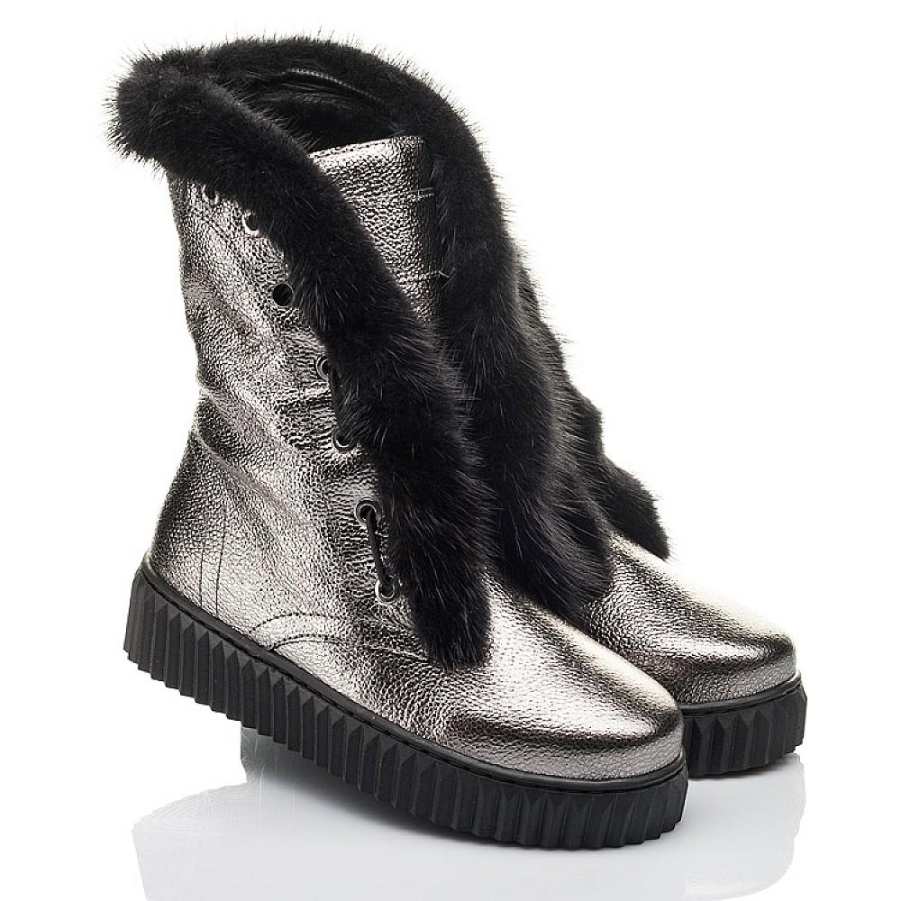 Детские зимние сапоги на меху Woopy Fashion серебряные для девочек натуральная кожа размер 32-40 (4496) Фото 1