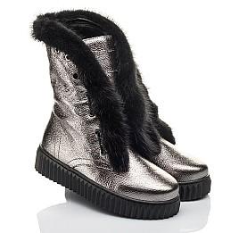 Детские зимние сапоги на меху Woopy Fashion серебряные для девочек  натуральная кожа размер 37-37 (4496) Фото 1