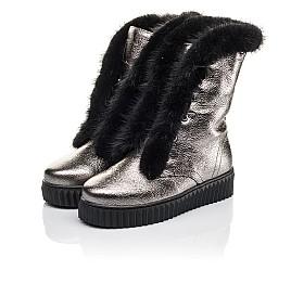 Детские зимние сапоги на меху Woopy Fashion серебряные для девочек  натуральная кожа размер 37-37 (4496) Фото 3