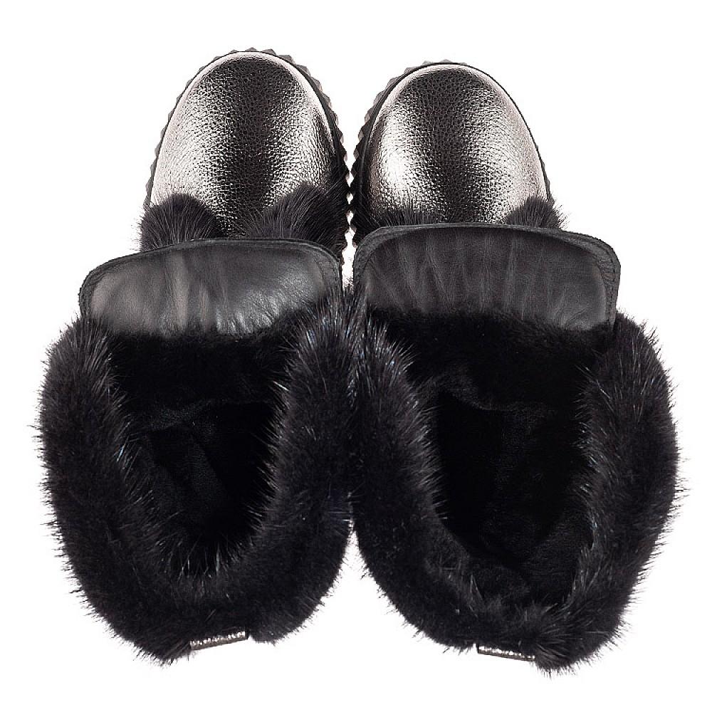 Детские зимние сапоги на меху Woopy Fashion серебряные для девочек натуральная кожа размер 32-40 (4496) Фото 5