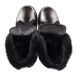 Детские зимние сапоги на меху Woopy Fashion серебряные для девочек  натуральная кожа размер 37-37 (4496) Фото 5