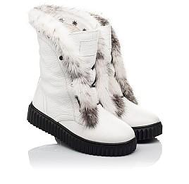 Детские зимние сапоги на меху Woopy Fashion белые для девочек  натуральная кожа размер 40-40 (4498) Фото 1