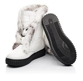 Детские зимние сапоги на меху Woopy Fashion белые для девочек  натуральная кожа размер 40-40 (4498) Фото 2