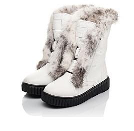 Детские зимние сапоги на меху Woopy Fashion белые для девочек  натуральная кожа размер 40-40 (4498) Фото 3