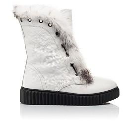 Детские зимние сапоги на меху Woopy Fashion белые для девочек  натуральная кожа размер 40-40 (4498) Фото 4