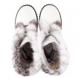 Детские зимние сапоги на меху Woopy Fashion белые для девочек  натуральная кожа размер 40-40 (4498) Фото 5
