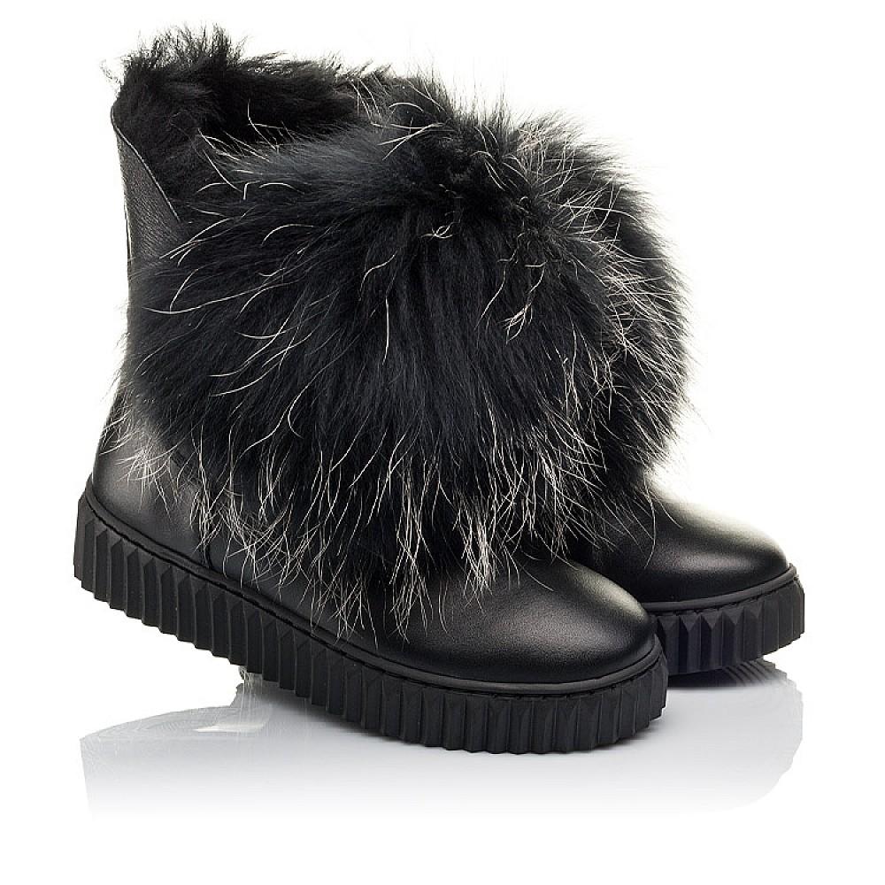 Детские угги Woopy Fashion черные для девочек натуральная кожа размер 32-40 (4499) Фото 1