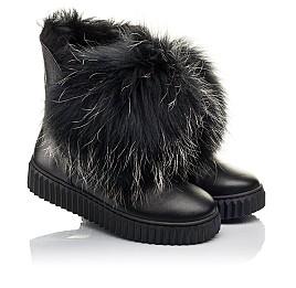 Детские угги Woopy Fashion черные для девочек натуральная кожа размер 32-32 (4499) Фото 1