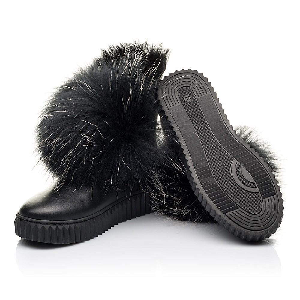 Детские угги Woopy Fashion черные для девочек натуральная кожа размер 32-40 (4499) Фото 2