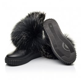 Детские угги Woopy Fashion черные для девочек натуральная кожа размер 32-32 (4499) Фото 2