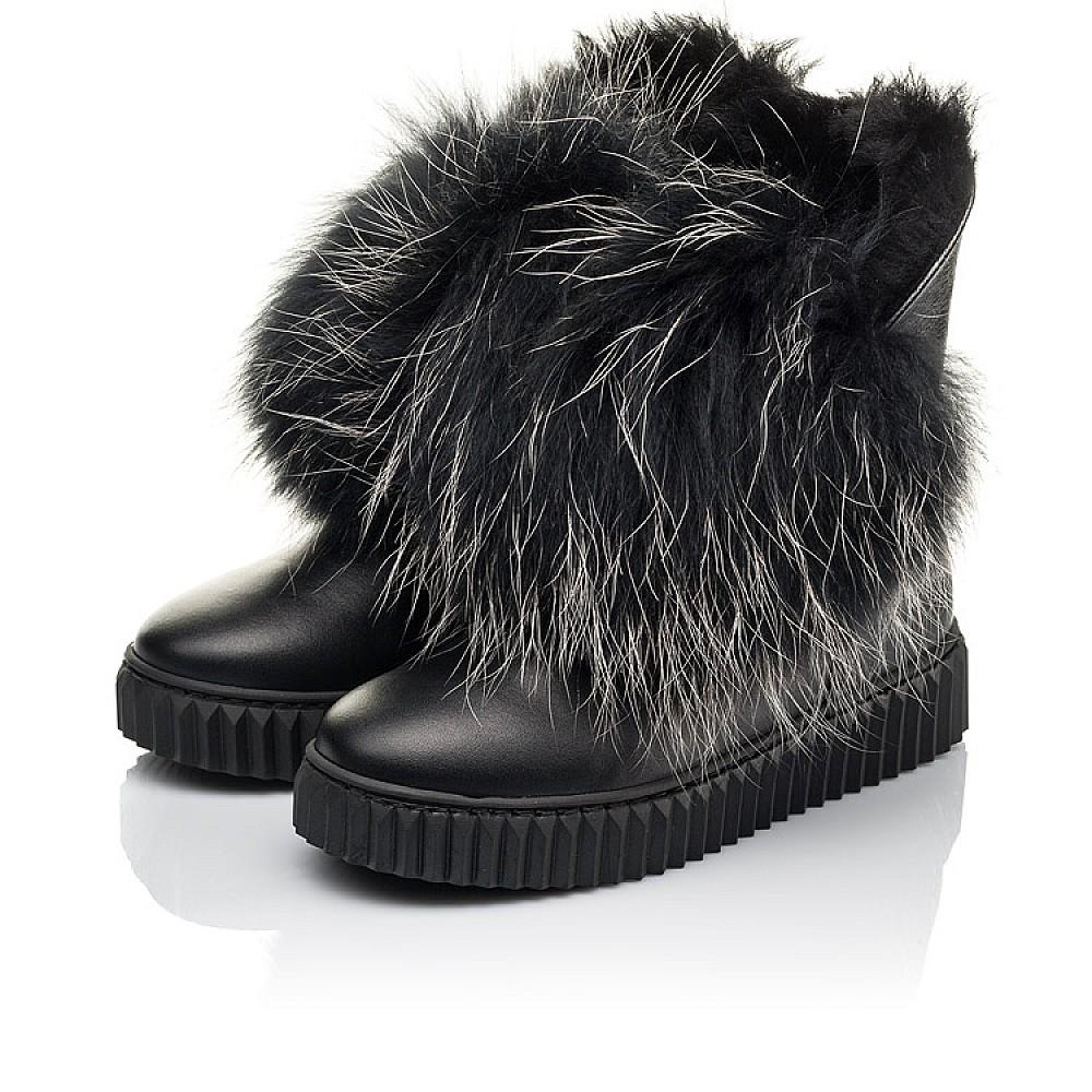 Детские угги Woopy Fashion черные для девочек натуральная кожа размер 32-40 (4499) Фото 3