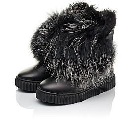 Детские угги Woopy Fashion черные для девочек натуральная кожа размер 32-32 (4499) Фото 3