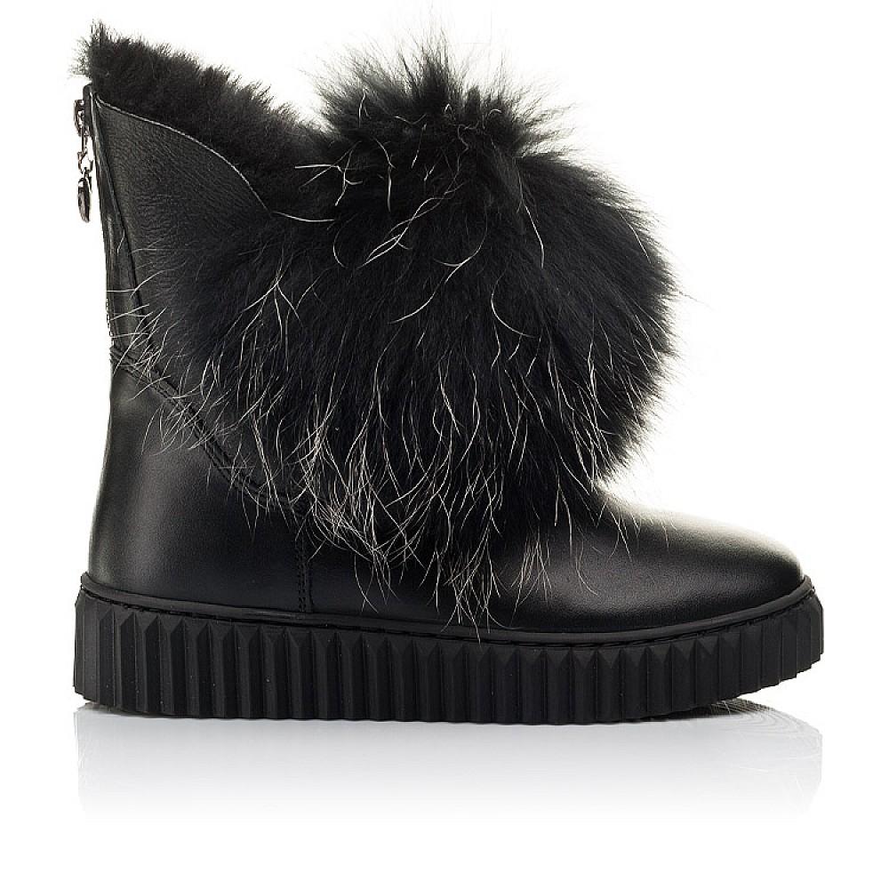 Детские угги Woopy Fashion черные для девочек натуральная кожа размер 32-40 (4499) Фото 4