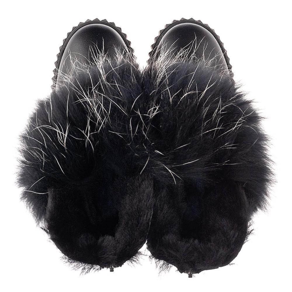 Детские угги Woopy Fashion черные для девочек натуральная кожа размер 32-40 (4499) Фото 5
