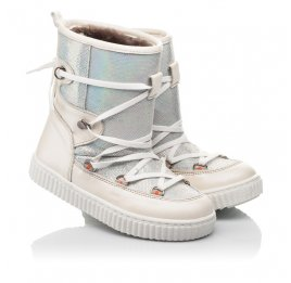 Детские зимние сапоги на меху Woopy Fashion бежевые для девочек  натуральная кожа размер 26-37 (4501) Фото 1