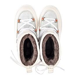 Детские зимние сапоги на меху Woopy Fashion бежевые для девочек  натуральная кожа размер 29-37 (4501) Фото 5
