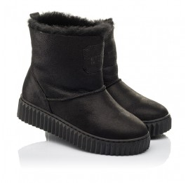 Детские зимние угги на меху Woopy Fashion черные для девочек натуральный нубук размер 31-41 (4502) Фото 1