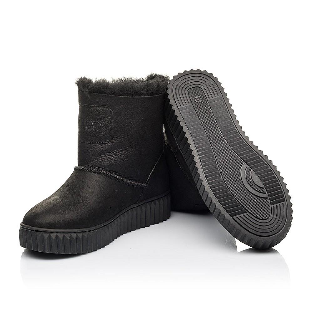 Детские зимние угги на меху Woopy Fashion черные для девочек натуральный нубук размер 31-41 (4502) Фото 2
