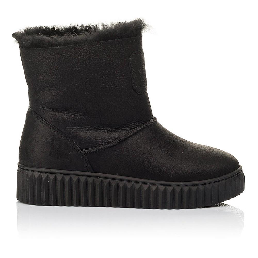 Детские зимние угги на меху Woopy Fashion черные для девочек натуральный нубук размер 31-41 (4502) Фото 4
