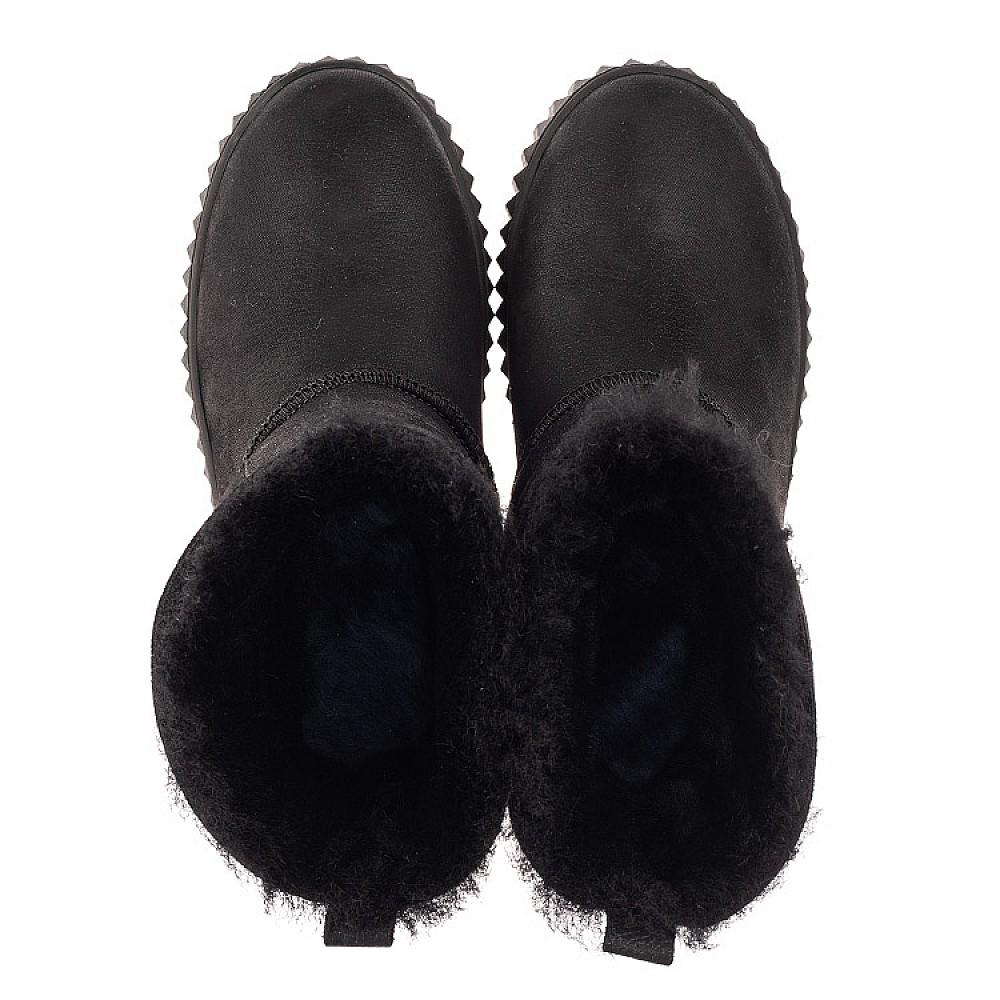 Детские зимние угги на меху Woopy Fashion черные для девочек натуральный нубук размер 31-41 (4502) Фото 5